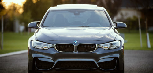 brand new car (BMW)